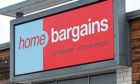 A Home Bargains store.
