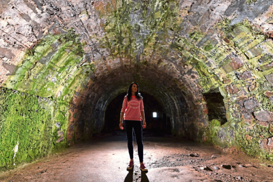 Gayle Ritchie visits spooky Dunnottar Castle and tours the eerie dungeons, hallways and ruins.