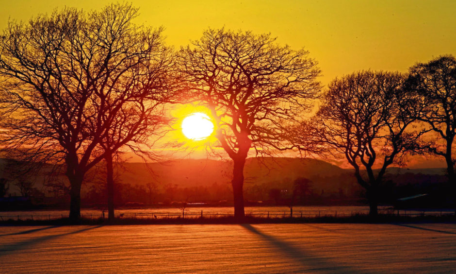 Sunset in the Carse of Gowrie.