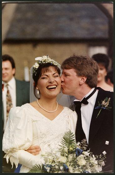 Lorraine Kelly Wedding day