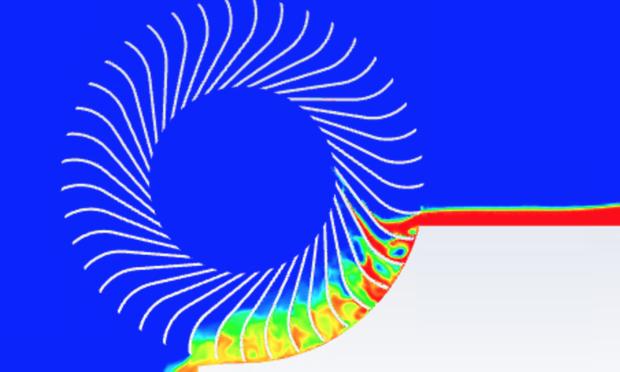 Computational fluid dynamics model of the Carruthers Waterwheel