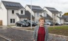 Councillor Judy Hamilton at the new housing development in Glenrothes.