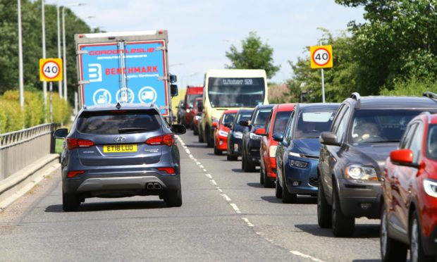 The first phase of works led to long tailbacks.