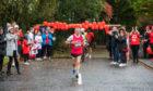 Dyke McKenzie sets off on his marathon.
