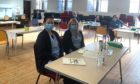 NHS Fife staff at a flu clinic this week.