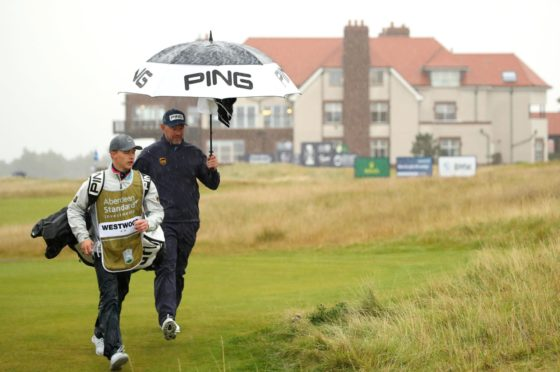 Lee Westwood felt conditions were unplayable in the third round of the Scottish Open.