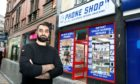 Hammad Hussain of the Phone Shop in Murraygate, Dundee.