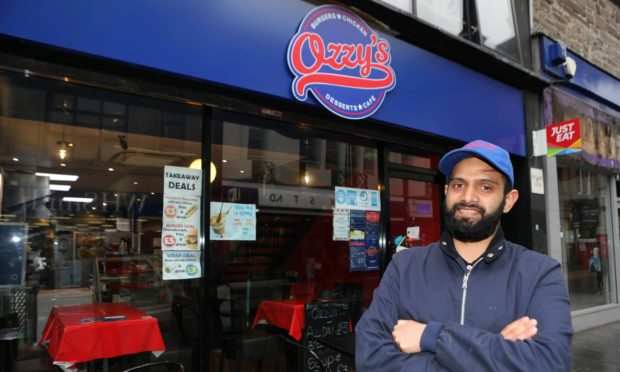 "Usman ""Ozzy"" Hyatt at his cafe in the Murraygate Dundee."