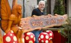 Fairy Woodland creator Derek Davidson with the latest wood carvings.