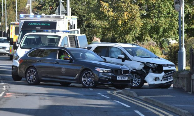 Accident on Glasgow Road in Perth