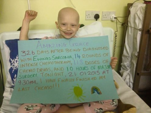 Grace Newton was just five when diagnosed with Ewing's sarcoma.