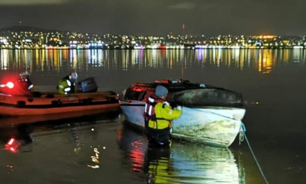 The boat was found drifting in the Tay. Pic: Paul Hutchison.