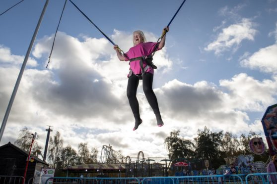 Jan Smith at M&D Theme Park, Motherwell.