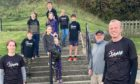 Local fundraisers Debi Ives, Kaiden Hourston, Archie Campbell, Eva Jones, Anna Jones, Mairi Campbell, Cameron Ives, Sarah Hourston, Andrew Ives, Ewen Campbell and Ross Ives..