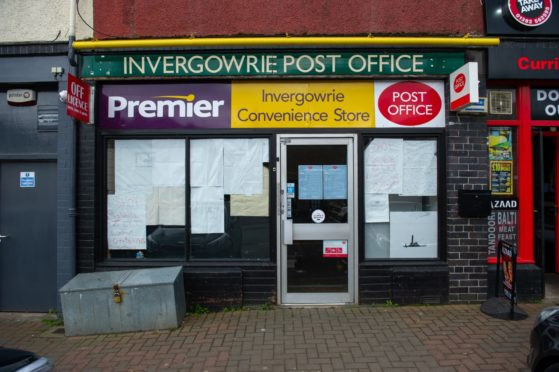 Invergowrie has been left without a Post Office branch.