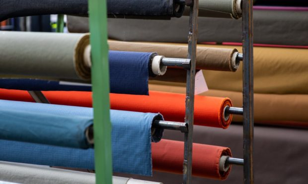 Some of the range of fabrics produced, Halley Stevensons.