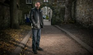 Richard Falconer at the spot where the 'ghost' of a young girl has been reported several times at, St Leonard's.