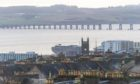 A view of the River Tay and Dundee.