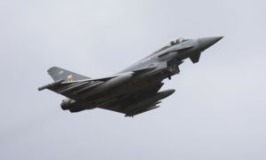 Recent RAF Typhoon launch from Leuchars to intercept Russian planes.