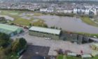 Flooding at Carnoustie Golf Links.