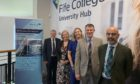 John Phillips, Academic and Quality Manager, Fife College; Maggie Anderson, Lecturer in Entrepreneurship, Edinburgh Napier University; Pamela Stevenson, Lead Officer Enterprise and Business Development, Fife Council; Iain Hawker, Assistant Principal, Fife College; Bryan McCabe-Bell, Director of Business, Enterprise and Tourism, Fife College.