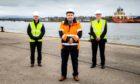 Montrose Port Authority chairman Peter Stuart, chief executive Captain Tom Hutchison and vice chairman Hamish Watt..