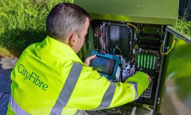 CityFibre works are going on across Dundee.