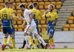 Stevie May scores hat-trick as St Johnstone thrash Brechin 7-0 in the Betfred Cup