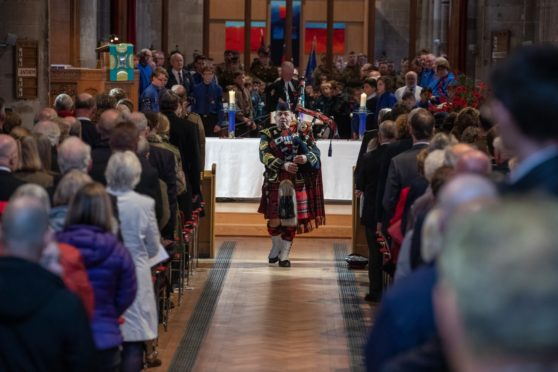 Remembrance Services have taken place at St John's Kirk, Perth in previous years. Picture: Kenny Smith.