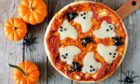 Petrified pumpkin pizza.