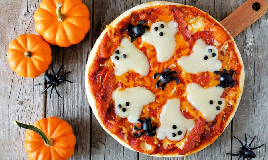 Petrified pumpkin pizza.