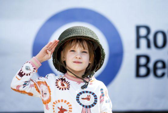 Gabrielle McCann, 7, from Edinburgh at the RAF Benevolent Fund's fundraiser at Broomhall House, Dunfermline.