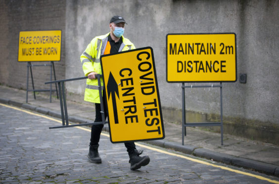 A new walk-through Covid testing centre opened in Dundee in October.