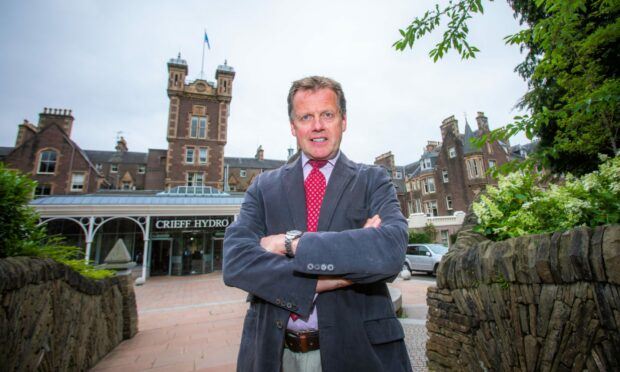 Chief executive of Crieff Hydro, Stephen Leckie.