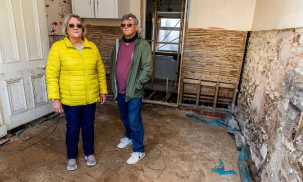 Kate and Steve Hampshaw's Kinglassie home was devastated in the flood.