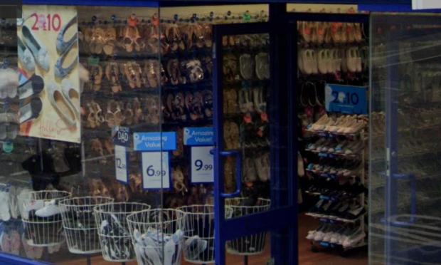 Inside a Shoe Zone shop