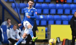 Craig Bryson in action for St Johnstone against Dundee United.