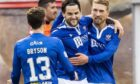 Craig Conway celebrates his first goal.
