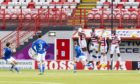 Craig Conway scores the last time the teams met.