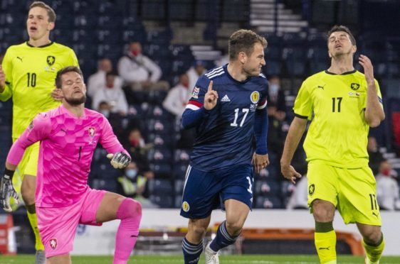 Ryan Fraser after scoring his winning goal.