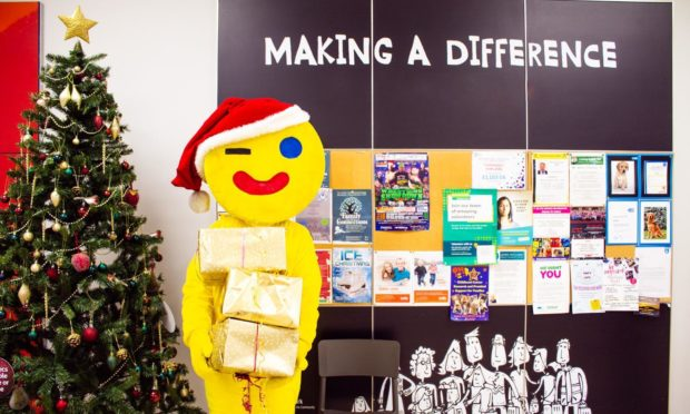 Fife Gingerbread mascot Gingey kicks off the campaign.