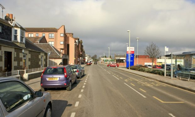 Monifieth High Street is a short distance from Broughty Ferry