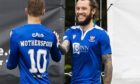 Stevie May celebrates his early goal.