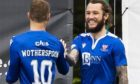 Stevie May celebrates his opening goal against Hamilton with David Wotherspoon.