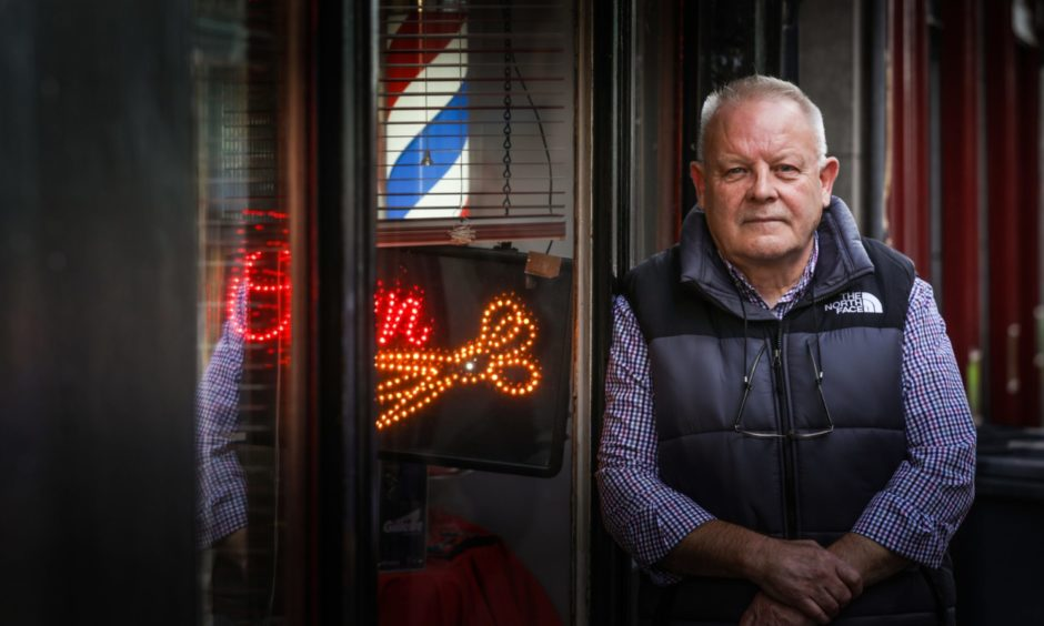 Drew Montgomery is the owner of Roe Buck's barbers on St Andrews Street, Dundee.