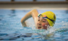 Lauren Elder, 13, was one of the first back in the Forfar community campus pool.