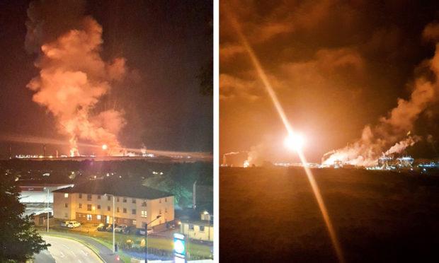 Photos of the flaring at Mossmorran last week..