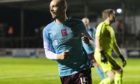 Craig Wighton after scoring the Hearts winner at Arbroath.