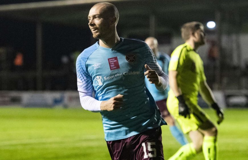 Craig Wighton after scoring the Hearts winner at Arbroath earlier in the season.