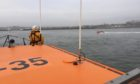 Both Arbroath lifeboats were called out after a person fell 40 feet from a rock stack at Auchmithie. Pic: Arbroath RNLI.